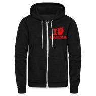 Zip Hoodies & Jackets ~ Unisex Fleece Zip Hoodie by American Apparel ~ I Heart Carma