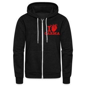 I Heart Carma - Unisex Fleece Zip Hoodie by American Apparel