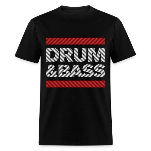 Run Drum and Bass Shirt (Striped) - Men's T-Shirt