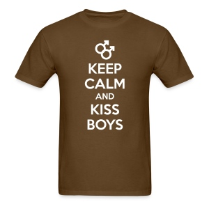 Flocked Kiss Boys Tee - Men's T-Shirt