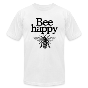 Bee happy (Men's t-shirt) - Men's T-Shirt by American Apparel