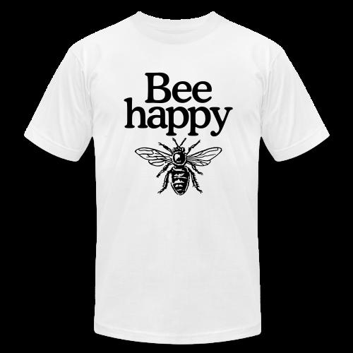 Bee happy (Men's t-shirt) - Men's Fine Jersey T-Shirt