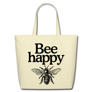 Bee happy Eco Bag - Eco-Friendly Cotton Tote