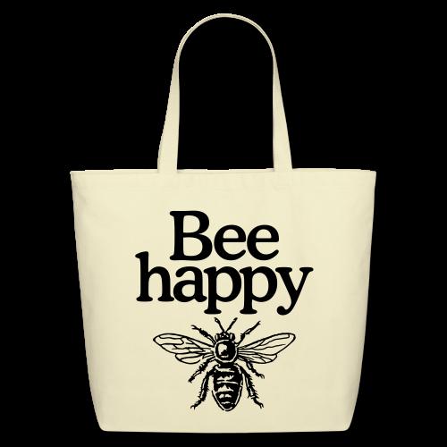 Bee happy Eco Bag - Eco-Friendly Cotton Tote