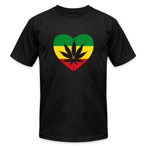 Green Love - Men's T-Shirt by American Apparel
