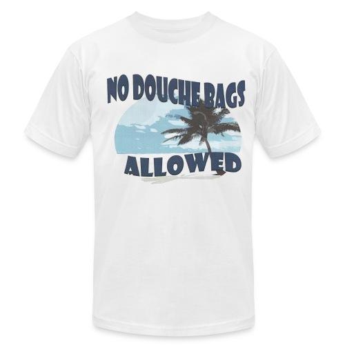 No Douchebags Allowed Shortsleeve white island tee - Men's Fine Jersey T-Shirt