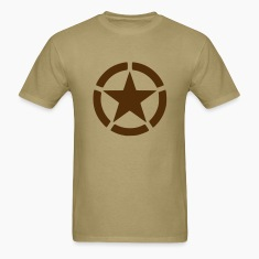 Men's Brown Army Star Shirt