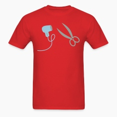 Hair Dryer Scissor Blow Drier 2c T-Shirts