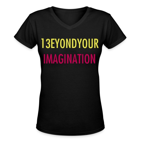 13EYOND YOUR IMAGINATION - Super Junior Tee (Black) - Women's V-Neck T-Shirt