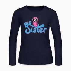 Owl Big Sister Long Sleeve Shirts