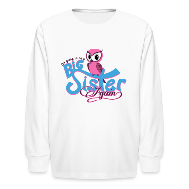 Owl Big Sister Again Kids' Shirts