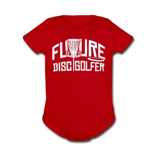 Future Disc Golfer Baby One Piece - Organic Short Sleeve Baby Bodysuit