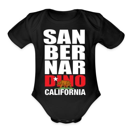 San Bernardino california - Organic Short Sleeve Baby Bodysuit