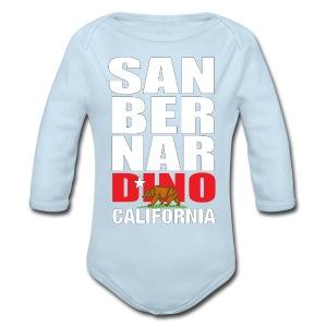 San Bernardino california - Long Sleeve Baby Bodysuit