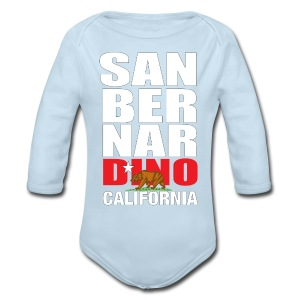 San Bernardino california - Long Sleeve Baby Bodysuit