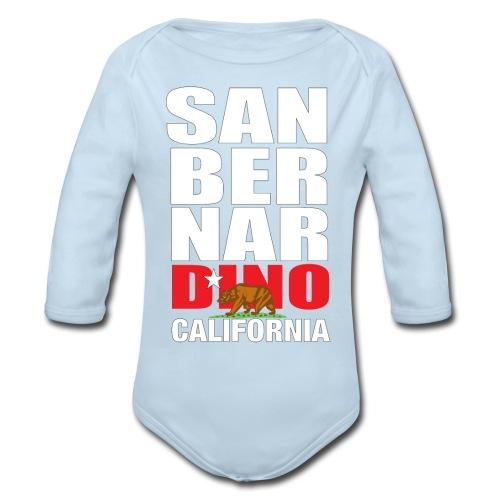 San Bernardino california - Organic Long Sleeve Baby Bodysuit