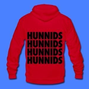Hunnids Zip Hoodies & Jackets - Unisex Fleece Zip Hoodie by American Apparel