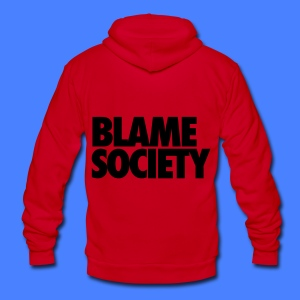 Blame Society Zip Hoodies & Jackets - Unisex Fleece Zip Hoodie by American Apparel