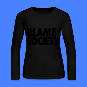 Blame Society Long Sleeve Shirts - Women's Long Sleeve Jersey T-Shirt