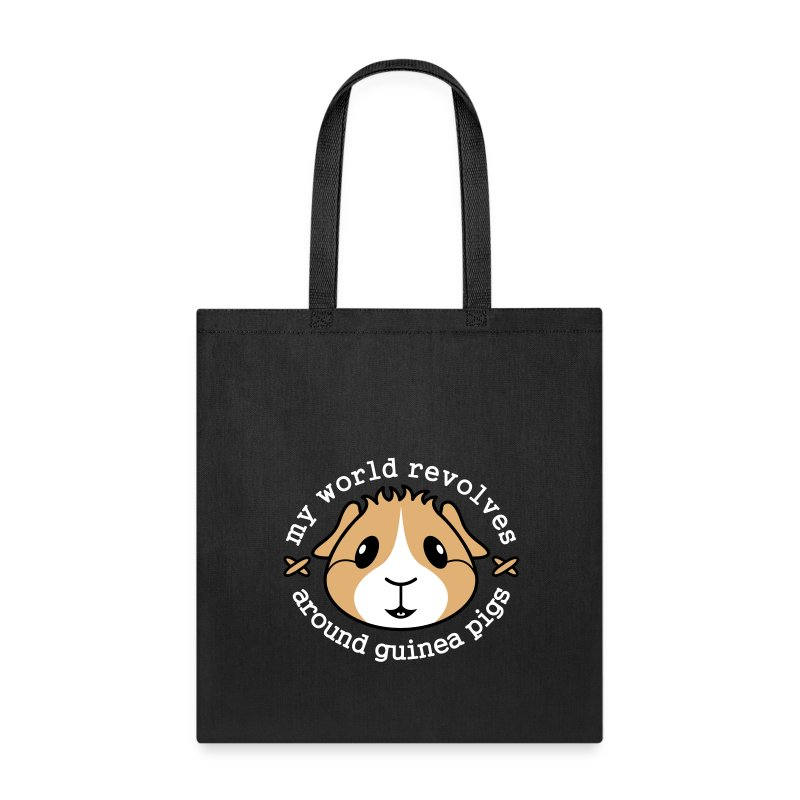 'My World Revolves...' Guinea Pig Tote Shopping Bag - Tote Bag