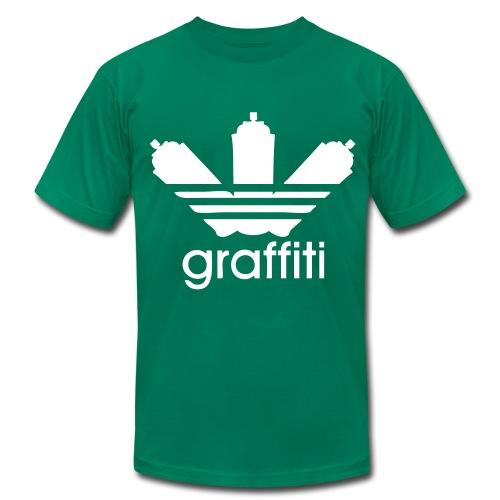 Grafitti Tee (white logo) - Men's Fine Jersey T-Shirt