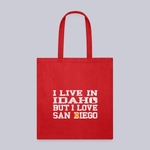 Live Idaho Love San Diego - Tote Bag