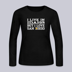 Live Idaho Love San Diego - Women's Long Sleeve Jersey T-Shirt