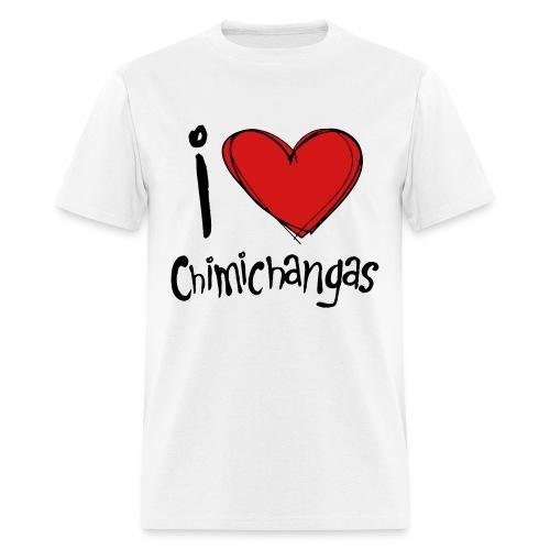 Deadpool - I Heart Chimichangas - Men's T-Shirt