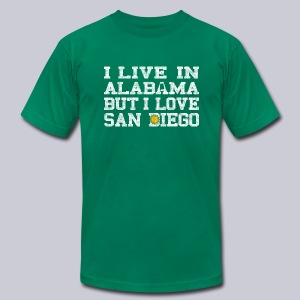 Live Alabama Love San Diego - Men's T-Shirt by American Apparel