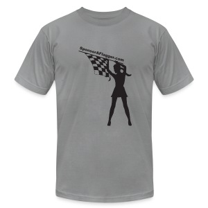 SAF Men's American Apparel w/black logo - Men's Fine Jersey T-Shirt