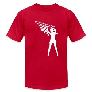 SAF Men's American Apparel w/white logo - Men's Fine Jersey T-Shirt