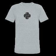 T-Shirts ~ Unisex Tri-Blend T-Shirt ~ Dark python logo on nice gray shirt