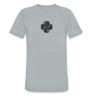 T-Shirts ~ Unisex Tri-Blend T-Shirt ~ Dark python logo on nice gray shirt