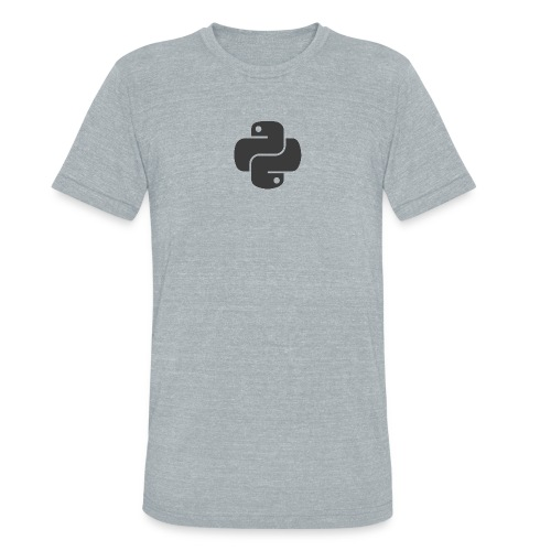 Dark python logo on nice gray shirt - Unisex Tri-Blend T-Shirt