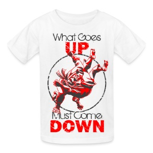 Kids' T-Shirt - Judo throw design In What Comes Up Must Come Down
