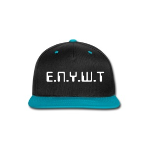 Data snap back (Teal) - Snap-back Baseball Cap