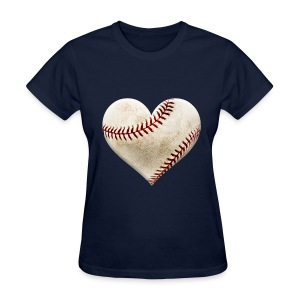 Heart Baseball T-Shirt - Women's T-Shirt