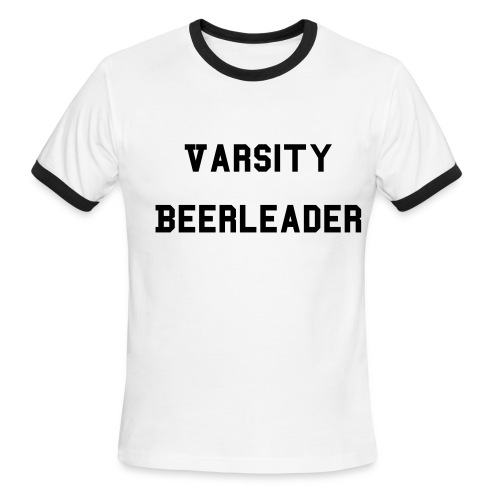 Men's Ringer T-Shirt - After years of dedication and hard work, you have finally earned your varsity letters.  Walk proud, oh graduate, through the esteemed halls of the School of Brewery