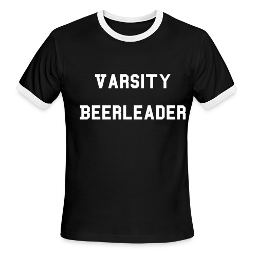 Men's Ringer T-Shirt - After years of dedication and hard work, you have finally earned your varsity letters.  Walk proud, oh graduate, through the esteemed halls of the School of Brewery.