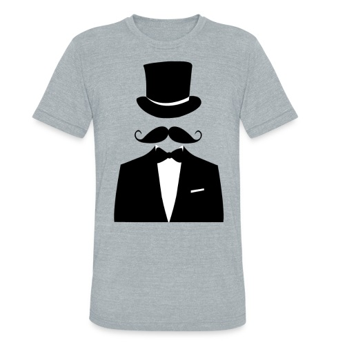 Distinguished Gentleman Moustache T-shirt - Unisex Tri-Blend T-Shirt