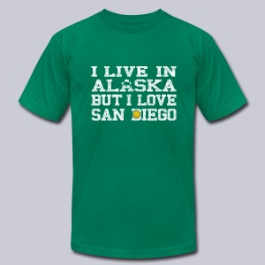 Live Alaska Love San Diego - Men's T-Shirt by American Apparel