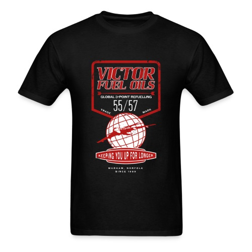 Victor Fuel Oils - Black - Men's T-Shirt