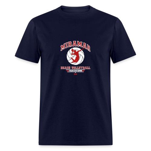 Miramar Beach Volleyball - Navy - Men's T-Shirt