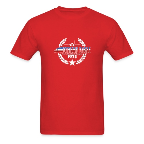 Streak Eagle - Red - Men's T-Shirt