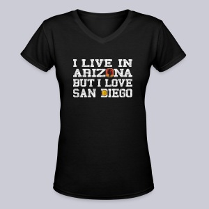 Live Arizona Love San Diego - Women's V-Neck T-Shirt