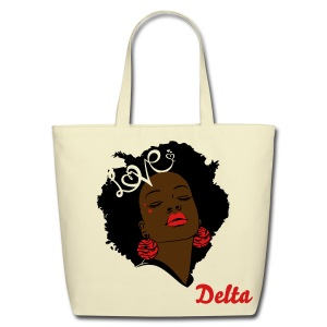 SN&LI! Retro Fro Delta Tote (Sale) - Eco-Friendly Cotton Tote