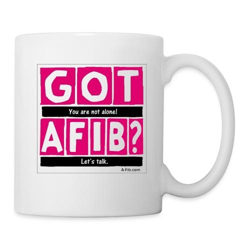 Cutter Got A-Fib You're Not Alone Let's Talk/ - Coffee/Tea Mug