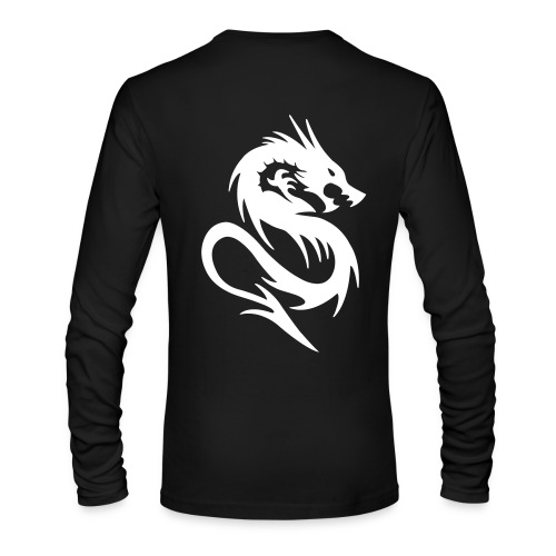 Black Long Sleeve Shirt w/ Logo & Text - Men's Long Sleeve T-Shirt by Next Level