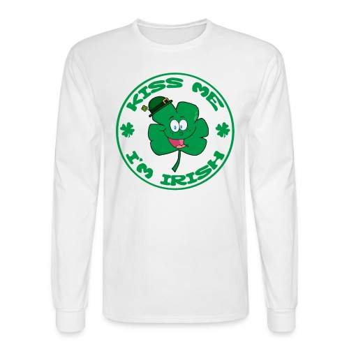 Kiss Me I'm Irish Men's Long Sleeve T-Shirt - Men's Long Sleeve T-Shirt