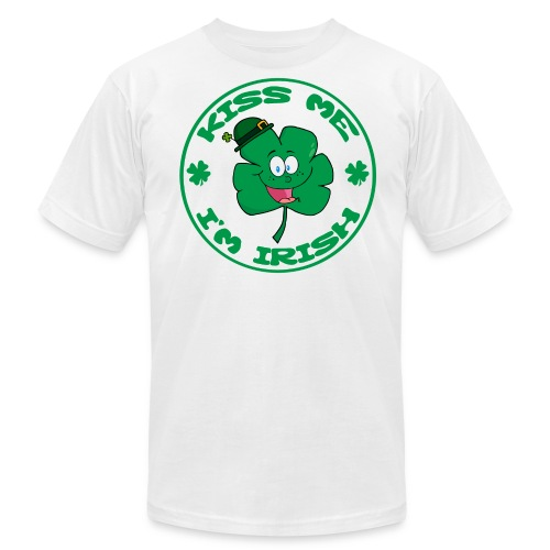 Kiss Me I'm Irish Men's American Apparel T-Shirt - Men's Fine Jersey T-Shirt